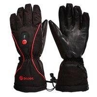Спаситель зимние ветрозащитные Водонепроницаемый Спорт на открытом воздухе Лыжный спорт перчатки с подогревом 7,4 В литиевых Батарея с подо