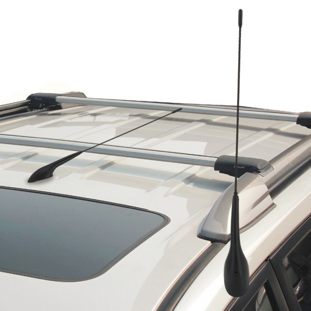 New auto car bus top roof mount am fm radio antenna aerial base kit black car