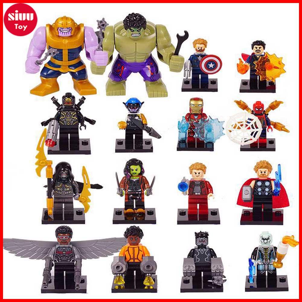 Model Building Decool 0296 7.5cm Big Size Superheroes Avengers Thanos Carnage Moana Building Blocks Kids Gift Toys For Lego For Minifigure