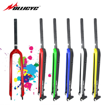 Circular tube Superstrong Five color 26/27.5/29 Inch Mountain/Road/MTB Bike Gloss Fork Carbon Bicycle Disc Brake Carbon Forks
