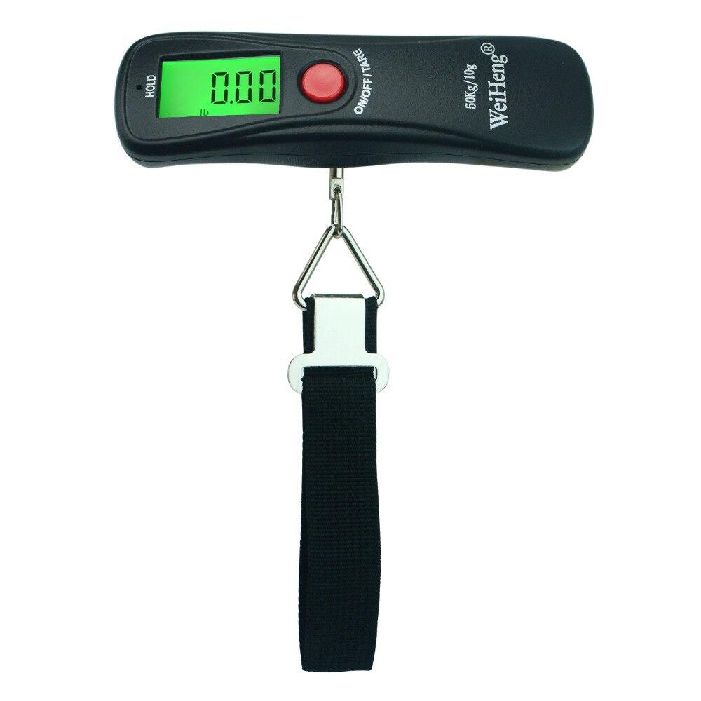 Weiheng 50kg*10g Mini Digital Hanging Luggage Fishing Weighing Scale by Weiheng