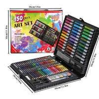 150/176 Uds. Juego de dibujo lápices de colores acuarelas para niños estudiantes juego de arte pinceles de pintura