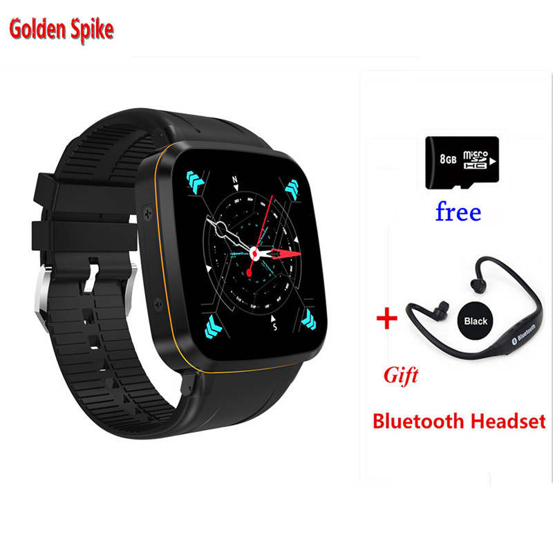 New arrival N8 MTK6580 Quad Core 3G Smart Watch Android 5.1 512MB/8GB GPS WiFi Bluetooth Pedometer Battery 600mAh PK S99A kw88 2017 new dm368 wifi android 5 1 quad core 8gb bluetooth 4 0 3g smart watch with gps position pedometer anti theft etc for ios