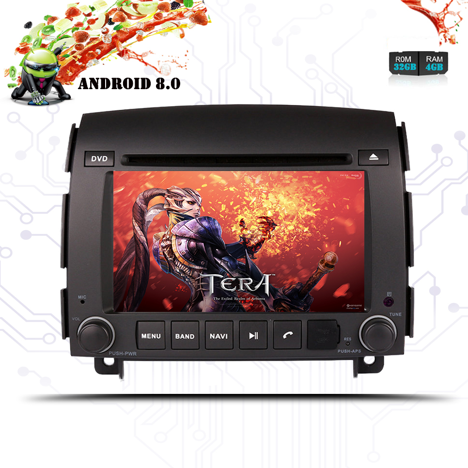 6.2 Inch 2 Din Android 8.0 Car Dvd-speler Voor Hyundai Sonata Nf Yu Xiang 2006-radio Tape Recorder Video Gps Wifi Rds Usb Audio