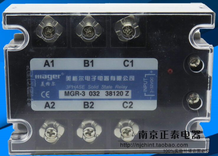 mager Three-phase solid state relay MGR-3 032 38120 Z 120A normally open single phase solid state relay ssr mgr 1 d48120 120a control dc ac 24 480v