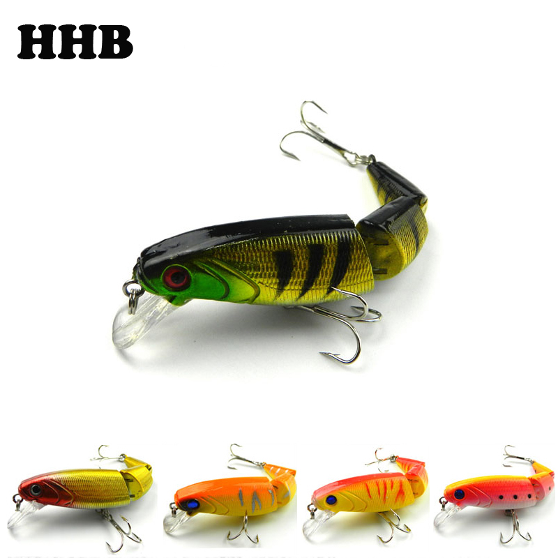 1pieces/lot 10.5CM/14.0G Pesca Minnow Fishing Lures/Baits Plastic Hard baits 3 jointed Segments Fly Carp Fishing Tackle X-33