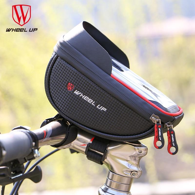 MTB Road Bike Bicycle Front Handlebar Bag 6.0 inch Waterproof Mobile Phone Bag Top Tube Frame Handlebar Bicycle Bag Accessories