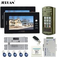 JERUAN Home 7 Inch Video Door Phone Intercom System Kit NEW Metal Waterproof Access Password Keypad
