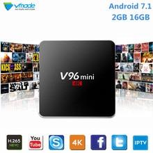 Vmade New Android TV Box Allwinner H3 Quad Core Smart Mini IPTV Box Android 7.1 2+16GB WIFI 2.4G Google TV Media Player Receiver недорого