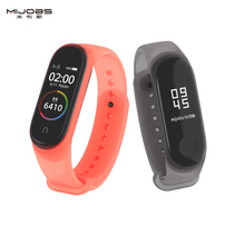 цена на Mijobs Mi Band 4 3 Strap Bracelet for Xiaomi Mi Band 4 3 Sport Watch Silicone Wrist Strap Accessories Miband 4 3 Film Wristband