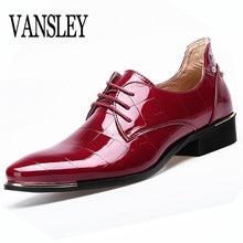 72734f17 Męskie Buty Duże Rozmiary Pointed Toe Mężczyźni Red Dress Homme Mężczyzna  Włochy Dress Oxford Buty Skórzane Buty Formalne Buty Ś..