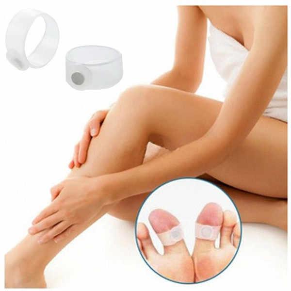 2 pz/paia Terapia Magnetica Prodotti Dimagranti Veloce Perdere Peso Bruciare Il Grasso Ridurre I Grassi del corpo Del Silicone Foot Massage Magnetic Toe Rings
