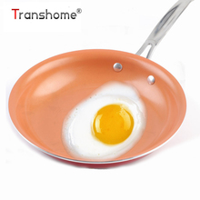 Transhome Non-stick Frying Pan 26 cm Copper Red Pan Ceramic Induction Skillet Saucepan Oven & Dishwasher Safe Cooking Tools