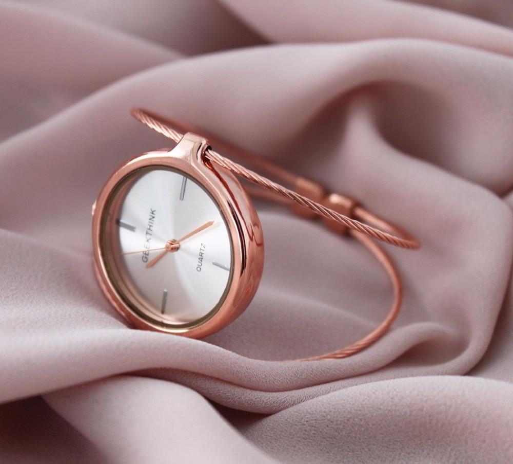 GEEKTHINK Metropolitan Fashion Luxury Brand Quartz Watch Kvinnor - Damklockor - Foto 6