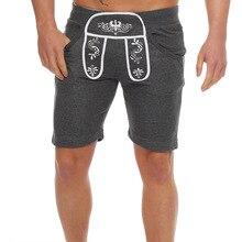 Mens gym cotton shorts Run jogging sports Fitness bodybuilding Sweatpants male workout training Brand Knee Length short pants недорого