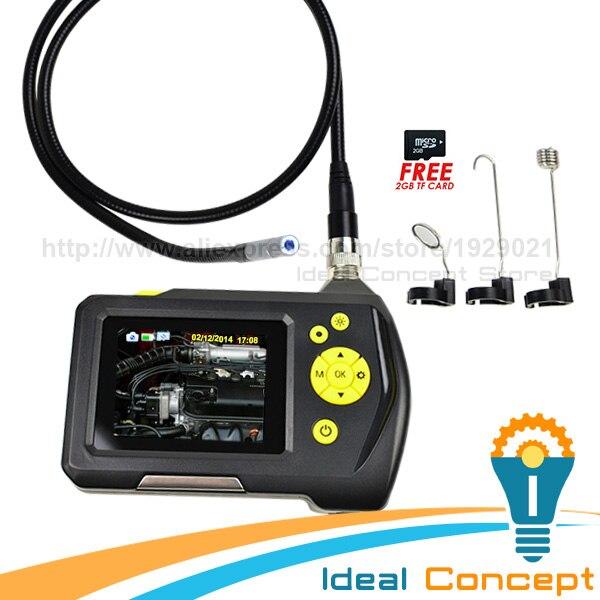 Étanche Caméra D'inspection Endoscope Endoscope 8.2mm Caméra 2.7 pouce Écran Numérique Moniteur et 1 Mètre Câble