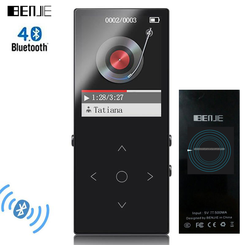 Bluetooth mp3 player Touch Key BENJIE K8 Built-in Speaker Ultra thin 8GB Music Player 1.8 Inch Color Screen Lossless HiFi Sound