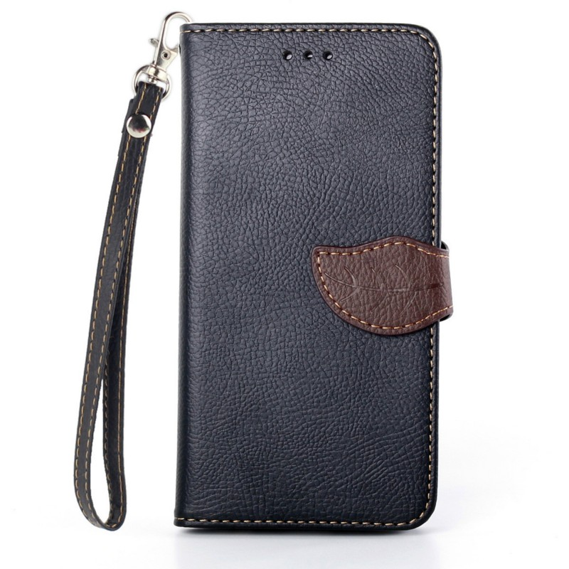 Lichee Pattern Leaf Style PU Leather Wallet Flip Case for iPhone 8 7 6 6s 7 Plus 6 Plus 6s Plus 5 5s 5c 4 4s