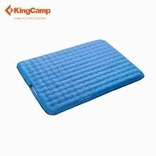 KingCamp коврик открытый 2 человек Кемпинг надувной матрас/коврик с Батарея насосом для Кемпинг мягкая