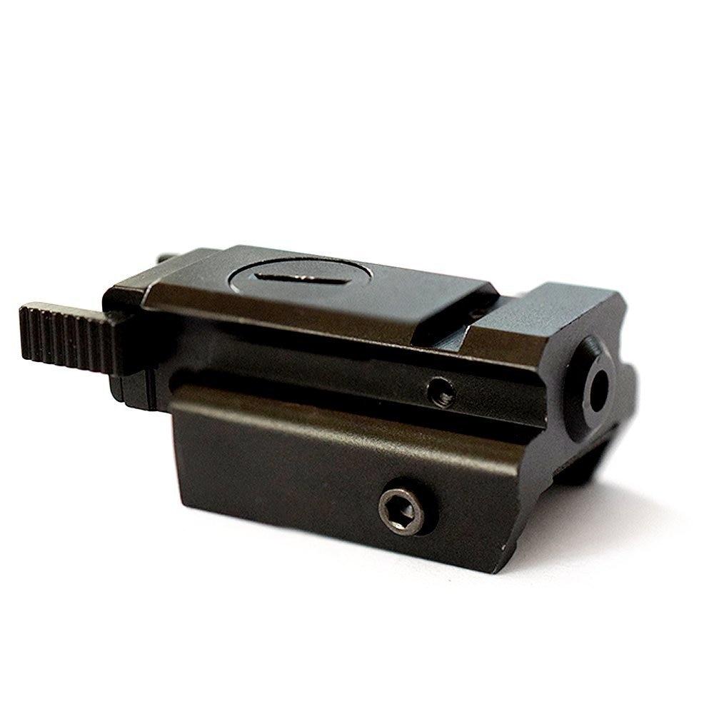 Red Dot Tactical G17 G19 Gun Laser Sight Low Profile 532nm Scope Fit 20mm Weaver Rail Mount for Pistol Handgun Rifle Airsoft