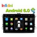 Android 5.1 coches reproductor de dvd gps de navegación para automóviles gps raido reproductor de vídeo 2 din en el tablero de vw tiguan polo golf touran EOS CC jetta