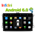 Infidini Android 6.0 car dvd player gps navigation car gps radio video player 2 din in dash for vw tiguan polo golf touran EOS