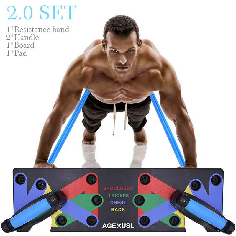 Shoulders Triceps Core Press Ups Push Up Bars Stand with Foam Grip Handle for Chest Home Exercise Gym Fitness Muscular Strength Training