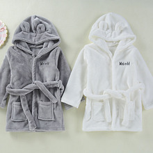 Baby Girls Boys Robes Children Bathrobe Hooded Cap Soft Velvet Robe Pajama Kids Coral Warm Clothes Baby Lovely Home Clothes