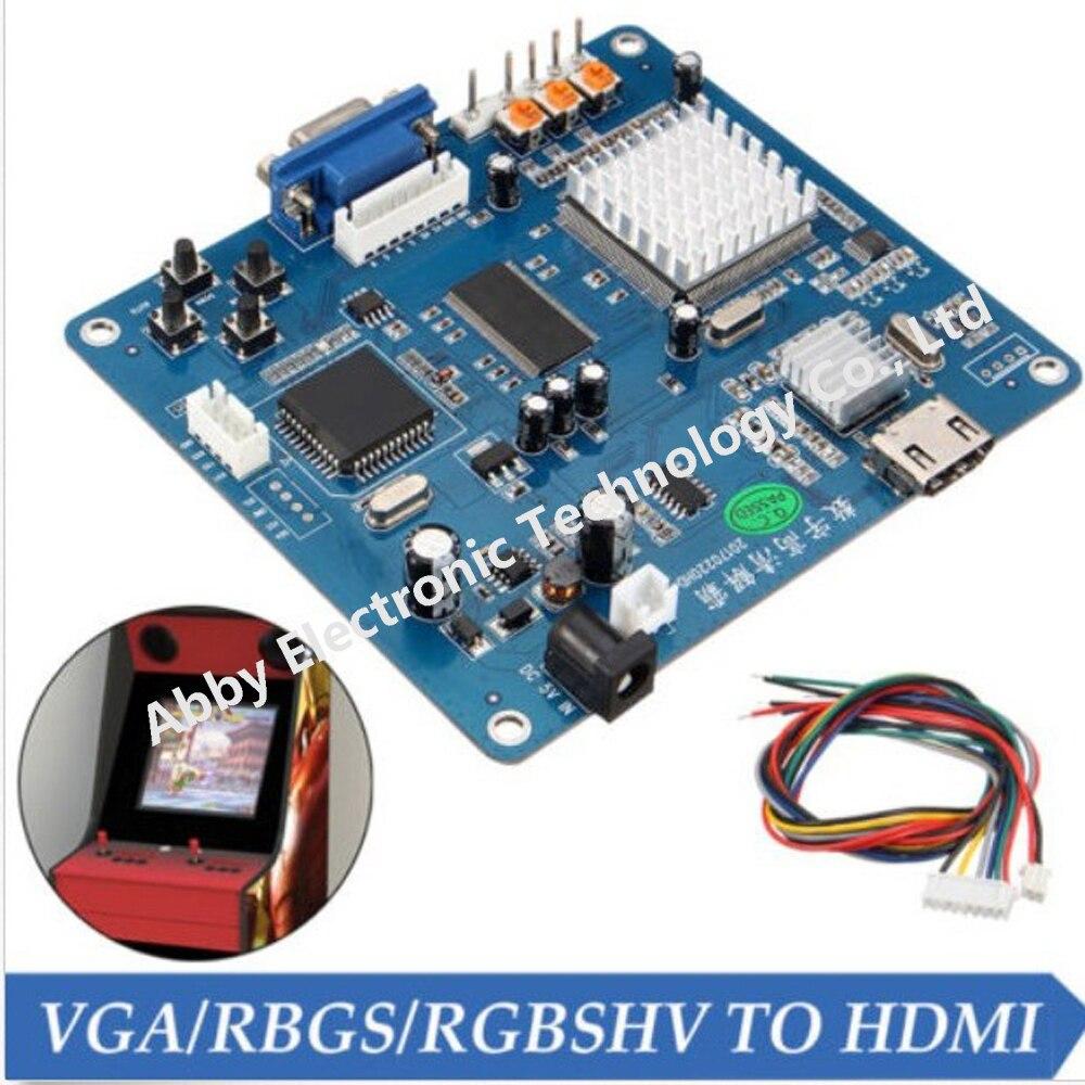 Carte de convertisseur vidéo sortie VGA/RGBS/CGA/EGA/YUV vers HDMI pour Machines de jeux d'arcade