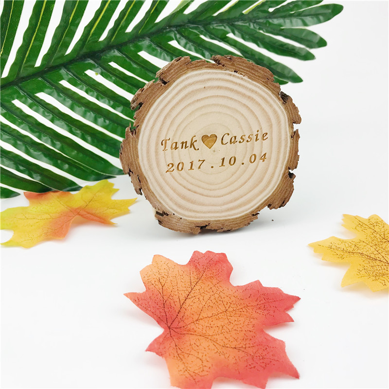 10Pcs Creative Wedding Decoration Wooden Slices Customizable Big Coasters font b Tablet b font Wood Rustic
