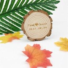 10 piezas decoración creativa de la boda Rodajas de madera personalizables grandes posavasos tableta madera decoración rústica nombre/Diseño del patrón