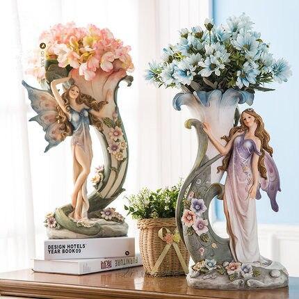 Online Shop Creative Decorative Tabletop Vase Flower Fairy Angel