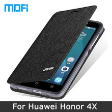 Mofi Phone Case For Huawei Honor 4X Flip leather cover TPU soft case Stand holder for