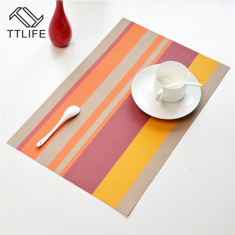 TTLIFE European-style Waterproof Mattress Plate Mat Green Clean Pvc Waterproof Coaster Table Mat Insulation Mattress Table Mat