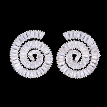 цена SisCathy Luxury Silver Round Stud Earrings Prong Setting Cubic Zirconia Bridal Earrings For Women Jewelry Brincos
