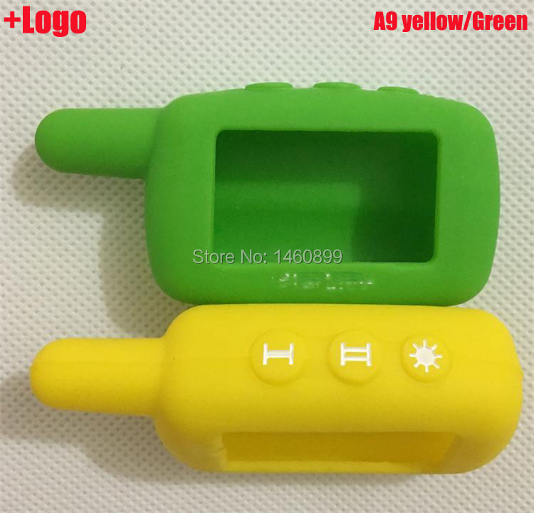 A6 Silicone Cover Key Case, for 2 Way car Alarm System Starline A6/A9/A4/A8 Lcd Remote Controller Key Fob Chain