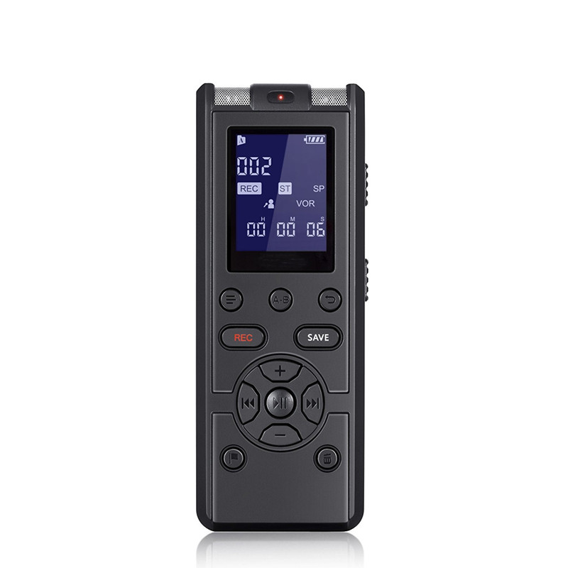 High Quality Professional Digital Voice Recorder Smart Sound Control Noise Reduction HD HIFI Loseless Music MP3 Player