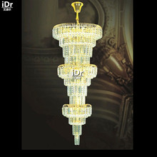 European-style Chandeliers Gold chic chandelier lamp hotel staircase polished gilded lamp Hotel Lighting