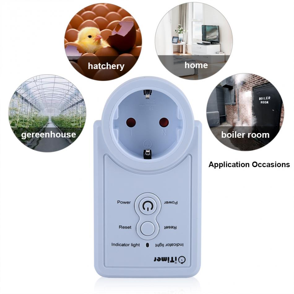 Image 5 - Smart GSM Power Outlet Plug Socket with Temperature Sensor SMS Command Control Russian Version Accessories-in Electrical Sockets from Home Improvement