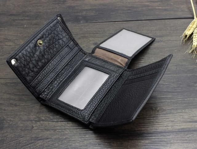 Trifold Wallet w/ Metal Chain  3
