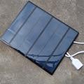 Portable dual usb painel solar carregador de bateria de 5 v 3.6 w 500ma para Fornecimento de Banco de potência com Luz LED Fasion Viajar para MP3 e MP4