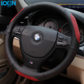 High Quality Cowhide Genuine Leather Hand-stitched Car Steering Wheel Cover Anti-slip and Breathable Fit for 95% Cars toyota vw