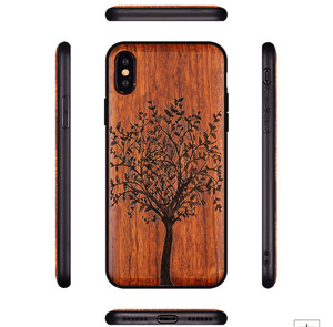 Image 3 - New For iPhone XS Max Case Slim Wood Back Cover TPU Bumper Case For iPhone XS XR X iPhone XS Max Phone Cases