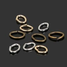 200pcs/lot Fashion Iron Oval Open Jump Rings For Necklace Bracelet DIY Jewelry Making Part Accessory 6x7mm(China)