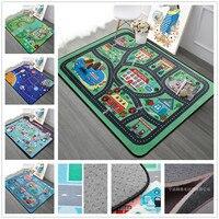 Cartoon Spiel Teppich Kinder Raum Weichen Teppich Schlafzimmer Rechteck Teppiche Für Wohnzimmer Sofa Kaffee Tisch Teppich Teppich Kind Spielen Boden matte|Teppich|   -
