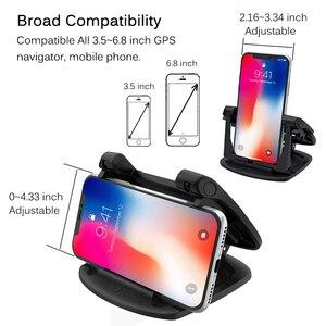 Image 5 - Soporte para tablero de automóvil para teléfono, soporte de Gel adhesivo antideslizante giratorio 360, soporte de montaje lavable para automóvil para iPhone XS Max Samsung S10 Note9 GPS