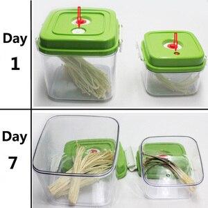 Image 4 - LAIMENG فراغ حاوية سعة كبيرة الغذاء التوقف تخزين الحاويات البلاستيكية مربع مع مضخة 500 مللي + 1400 مللي + 3000 مللي S166
