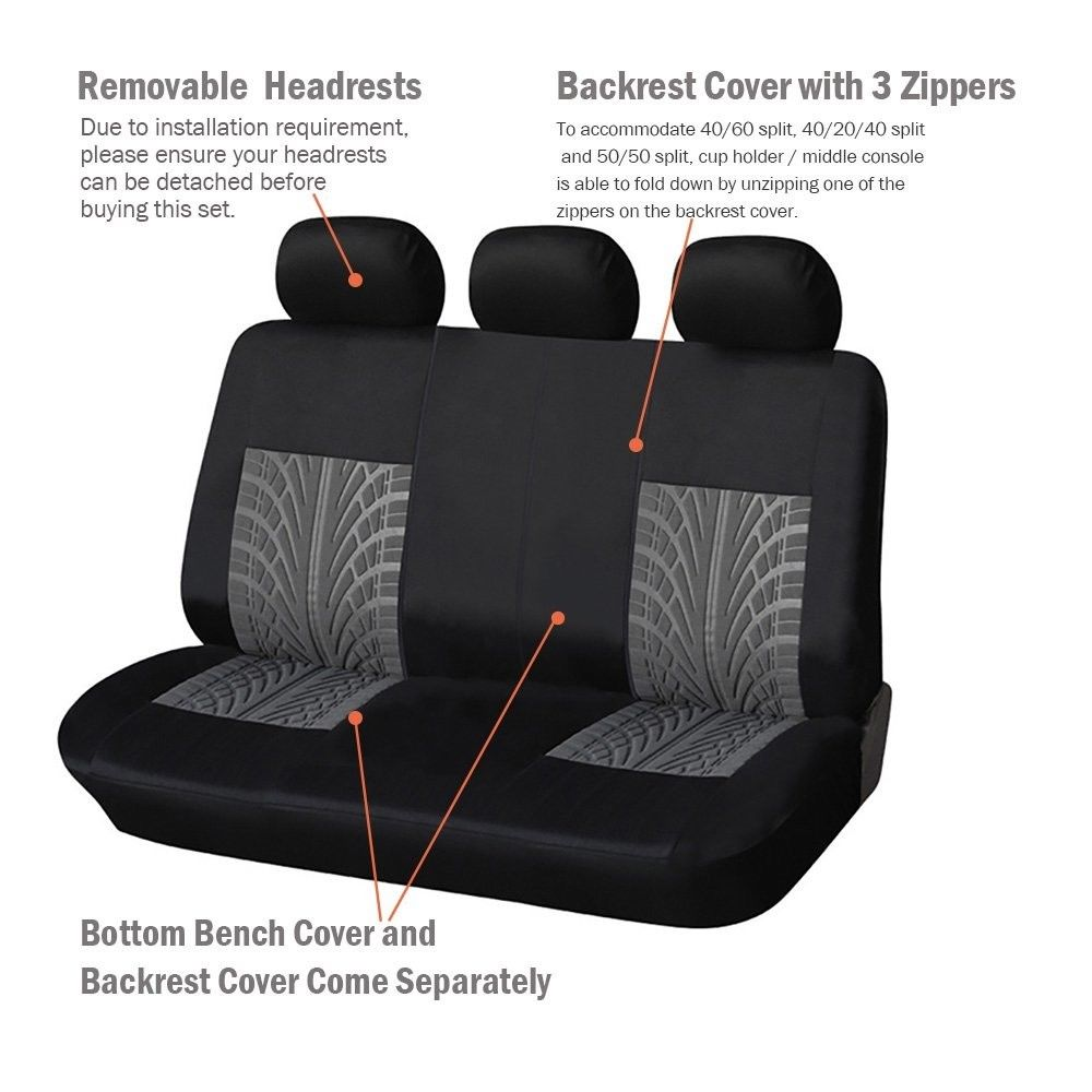 Image 3 - AUTOYOUTH 3 Colour Track Detail Style Car Seat Covers Set Polyester Fabric Universal Fits Most Cars Covers Car Seat Protector-in Automobiles Seat Covers from Automobiles & Motorcycles