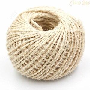 50 Meters/Lot Hemp Rope Natural Jute Twine Gift box String Rope 1.5mm 3Ply Hemp Rope Jute Cord For DIY Handmade Accessory