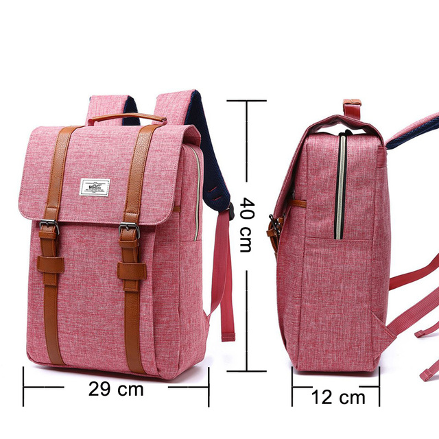 2018 Vintage Men Women Canvas Backpacks School Bags for Teenagers Boys Girls Large Capacity Laptop Backpack Fashion Men Backpack 1